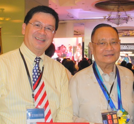 Eric Lachica (left) with former Health Secretary Alran Bengzon, now CEO of The Medical City