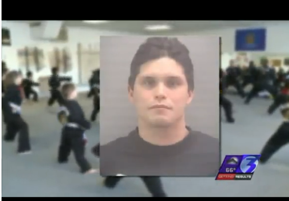 A screen grab of WTKR TV news on Brian Trial