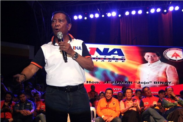 The opposition Team UNA led by Vice President Jojo Binay