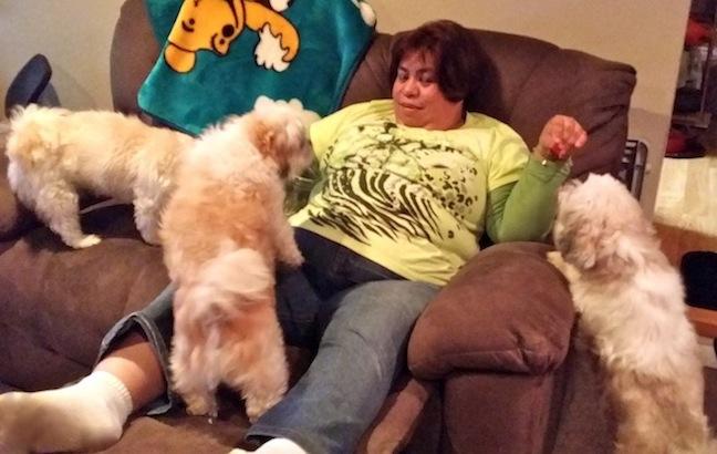 Sassy, Rasky and Zippy with mommy.
