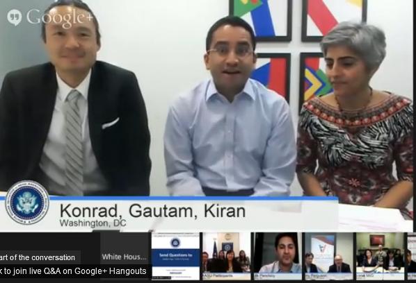 From left Konrad Ng,Gautam Raghavan and Kiran Ahuja