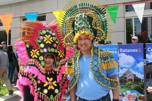 Ati-Atihan dance and costumes a hit among embassy visitors.