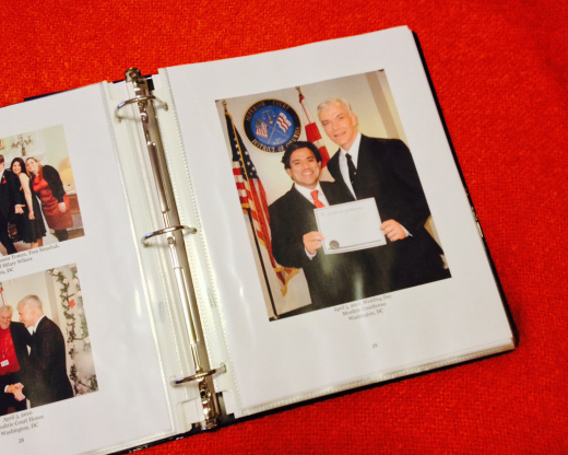 The binder: Photographs and memories of Erwin and John as a couple for the last 15 years.