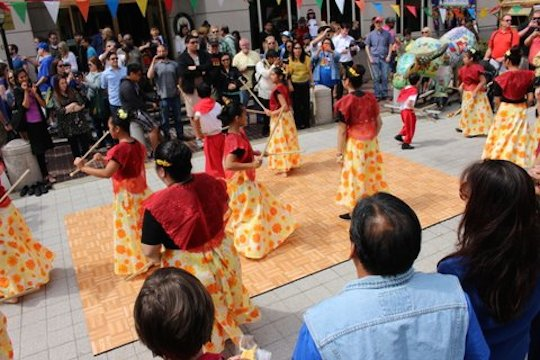 Traditional dance. Photo by Bing Branigin