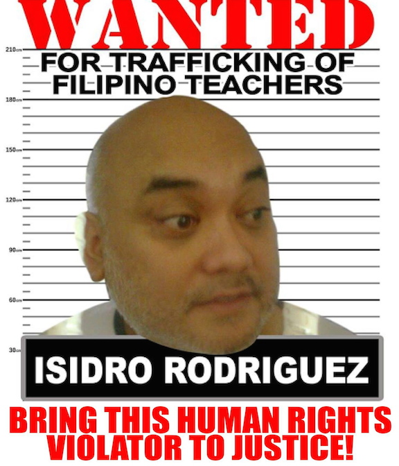 Picture of Isidro Rodriguez on a flier of Gabriela USA