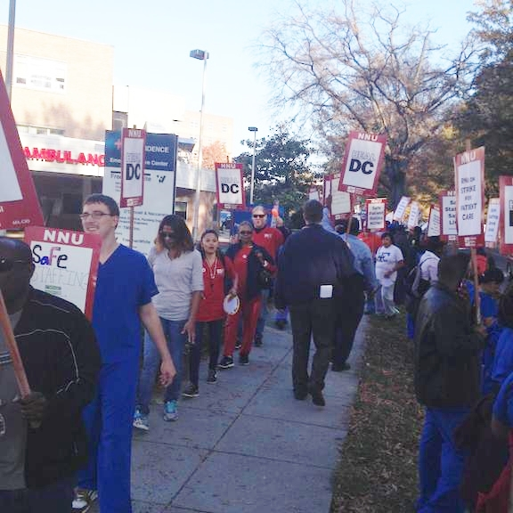 More than 200 nurses participated in the strike. Photo: Liselle Natividad