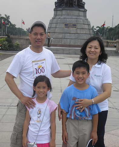 The Falconis experience Luneta Park in a 2010 visit to the Philippines.