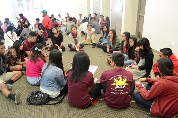 Filipino youth attend a January 2014 SCPASA workshop