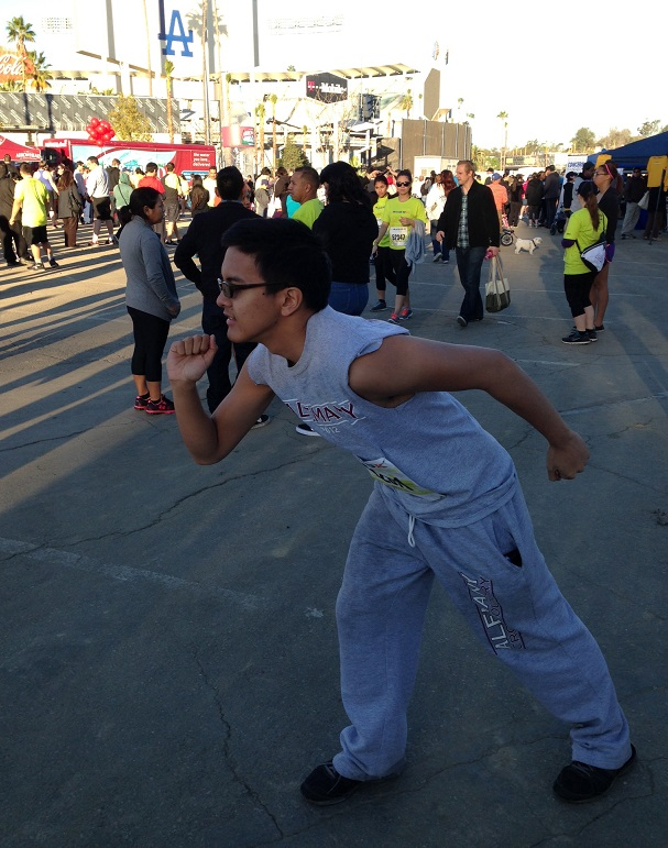 The author preparing to run: a feeling of bliss and positive thinking. TFLA photos