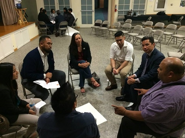 Small group discussions sought to answer questions like 'What does community mean to you'?