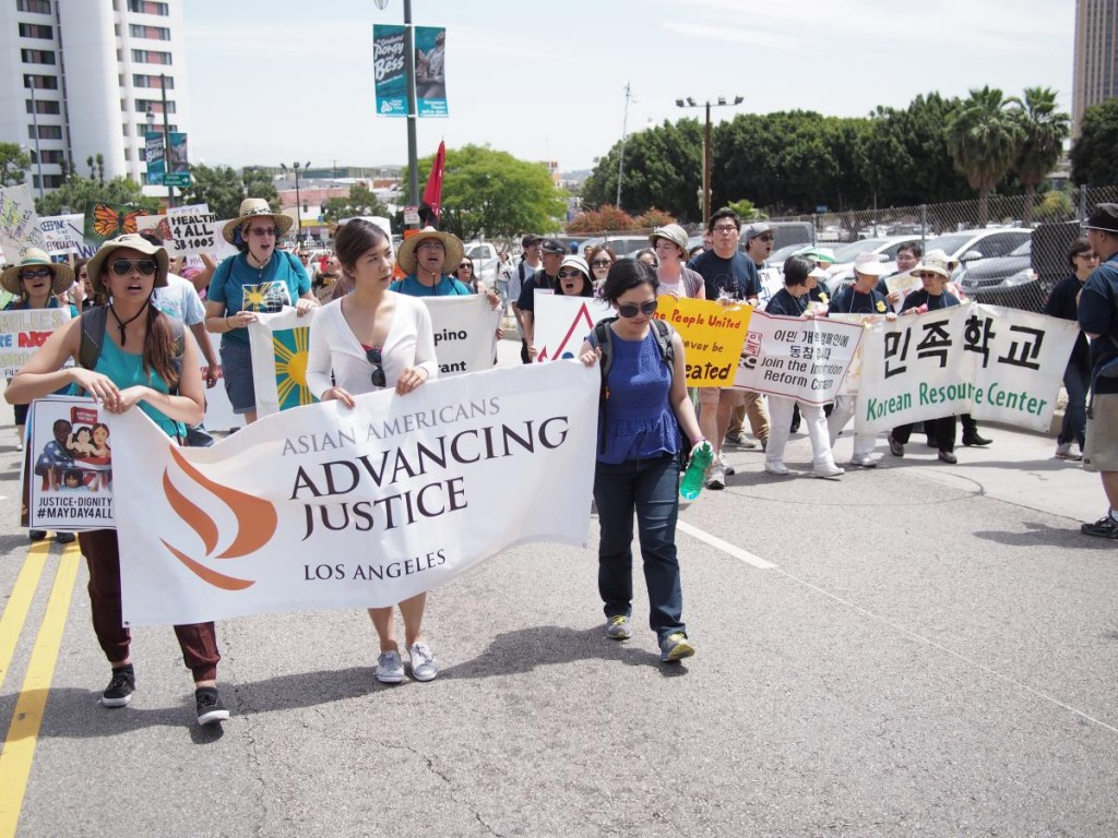 Advancing Justice will lead rally today.