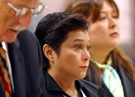 Nora Aunor with her  lawyer Claire Navarro Espina (background).