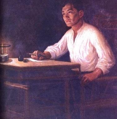 Jose Rizal painting by artist B. Gonzalez