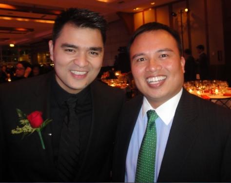 The author (right) with Jose Antonio Vargas