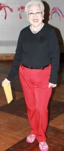 lumen red pants