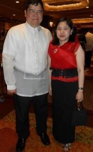 With husband Eddie de Vega, also a diplomat