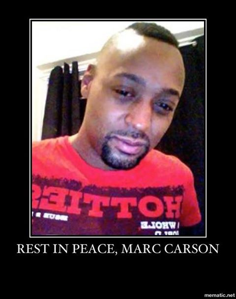 Mark Carson was harassed  with homophobic taunts before he was shot in the face.
