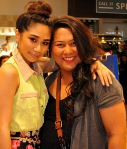 With Morena Brown, a fan from Queens