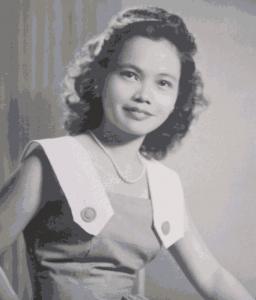 The young bride Priscilla Tiangco Schofield. Photo courtesy of Judge Lorna Schofield