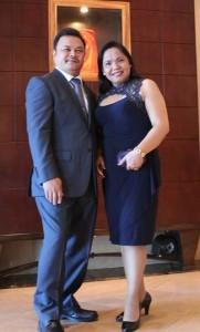 With husband Maxim Geraldino.