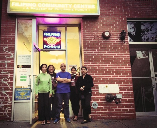 The Bayanihan Filipino Community Center in Woodside. Volunteer Jonna Baldres is second from left.