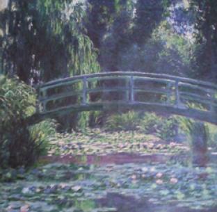 Claude Monet's water lily painting ''Le Bassin aux Nympheas' (1899)