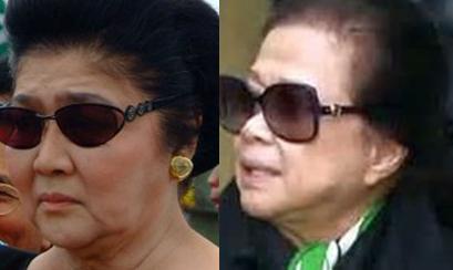 Imelda Marcos (left) with former secretary Vilma Bautista
