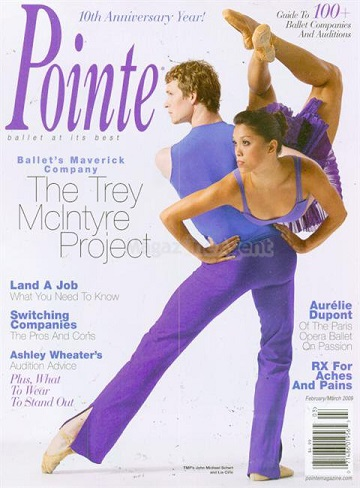 Lia on the cover of Pointe Magazine in 2009