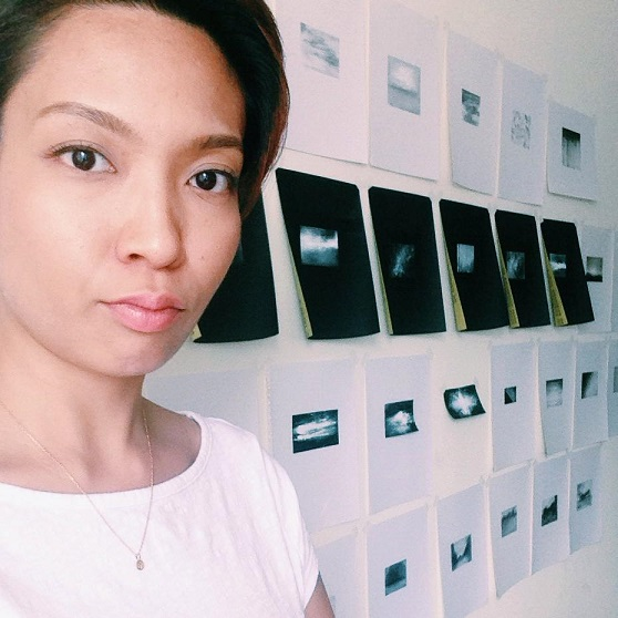 The artist in her NYC studio