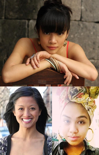Clockwise from top: Leslie Hubilla, Precious Sipin, the author also known as Renee Rises