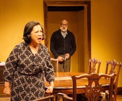 Mia Katigbak is the matriarch in a Jewish family in the Bronx. With actor Alok Tewari