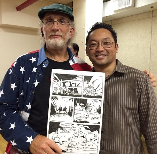 The author with the legendary Robert J. Sodaro, a well-known comic book writer in the 1980s through the 1990s
