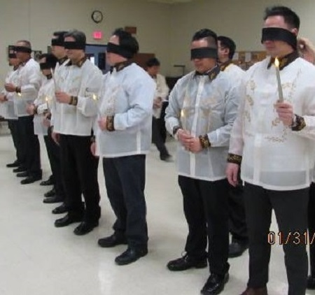 Blindfolds for knights-in-waiting. Photos by Jujo Conol