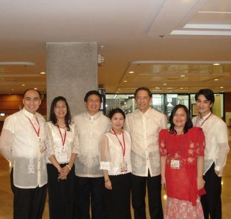 The author (far left) with Ambassador Lucenario (third from left) together with members of the Socials Committee during the ASEAN Ministerial Meetings held at the Philippine International Convention Center in July-Aug. 2007
