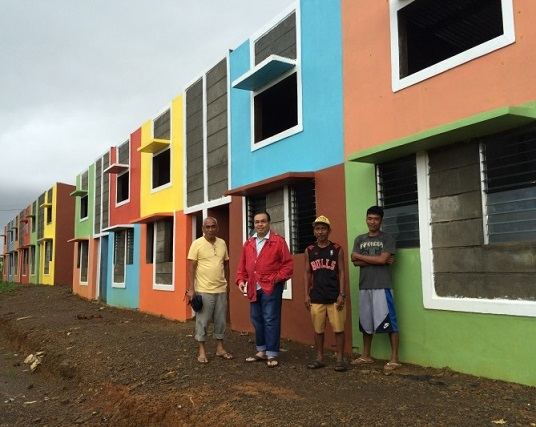 Consul General Mario de Leon, Jr. visited the BASP Village in Hernani, Eastern Samar in December 2014.  At the time, more than 30 houses have been built.