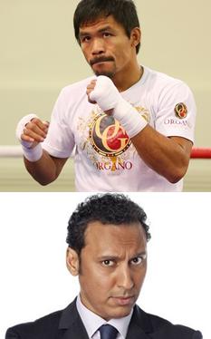 Boxing champ Manny Pacquiao; comedian-activist Aasif Mandvi