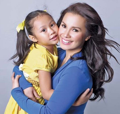 With daughter Nicole Beverly Chien: She was elected class president because she is 'friendly popular.' Photo: MB.com.ph