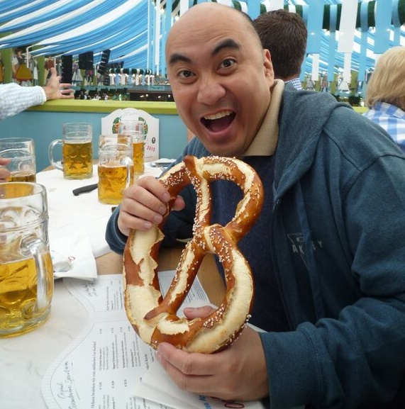 No beer for author who  gets his fill of Bavarian pretzels, instead.