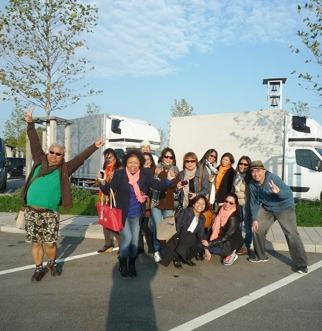 The group of touring Filipinos on the road trip to Strasbourg, France from Augsburg, Germany