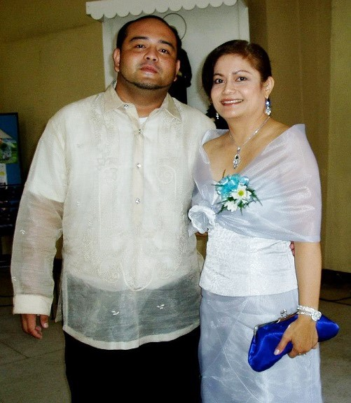 The author, a registered nurse in NYC, and her son Pablo John Garcia IV, who is a branch manager of the Cebu CFI Community Cooperative