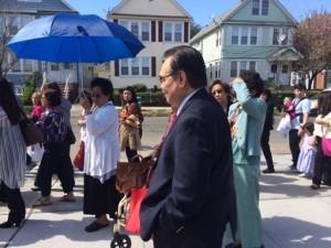 Consul General Mario de Leon Jr. joins the procession.