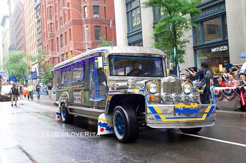 Apl.de.ap's Jeepney cruises Madison Avenue.