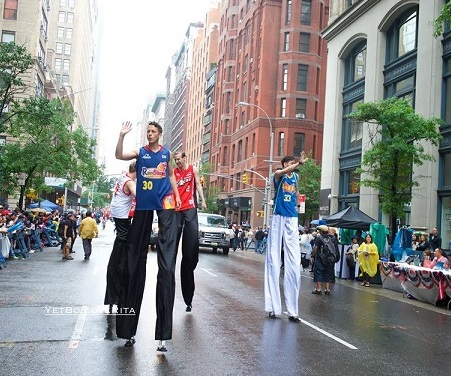 Marching on stilts