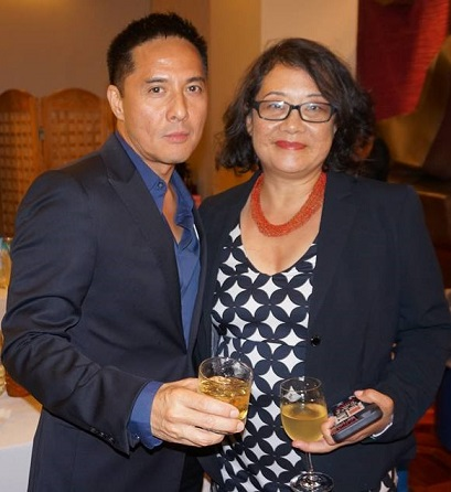 With NYC Chief Technology Officer Minerva Tantoco at the opening of his Philippine Center exhibit in Manhattan