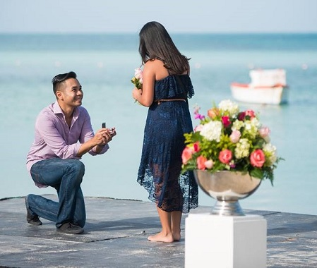 He: 'Will you marry me?'