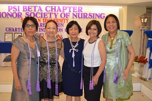 Those who paved the way, from left: Betsy Jackson, Dr. Felella K. Millman, Dr. Luth Tenorio, author Laura Garcia, and Dean Evalyn Abalos