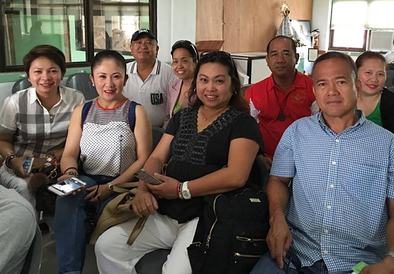 Part of the  team that left Camarines Sur to fly back to Manila. The others left days earlier.