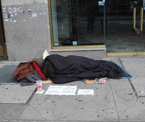 Homelessness is usually triggered by economic reasons, domestic violence and evictions.