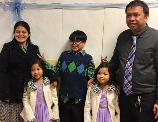 Marianne, husband Gumersindo and their three young children