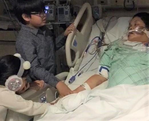 Marianne's children visit mom in the hospital: Sole breadwinner